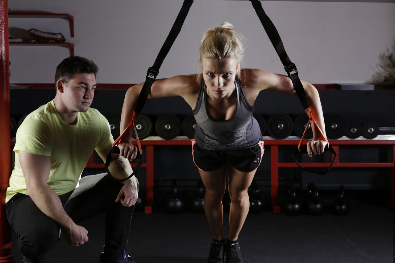 woman working out with a man