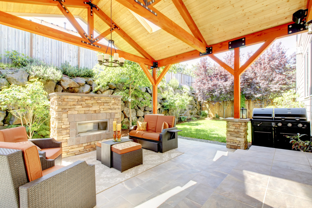 Exterior covered patio