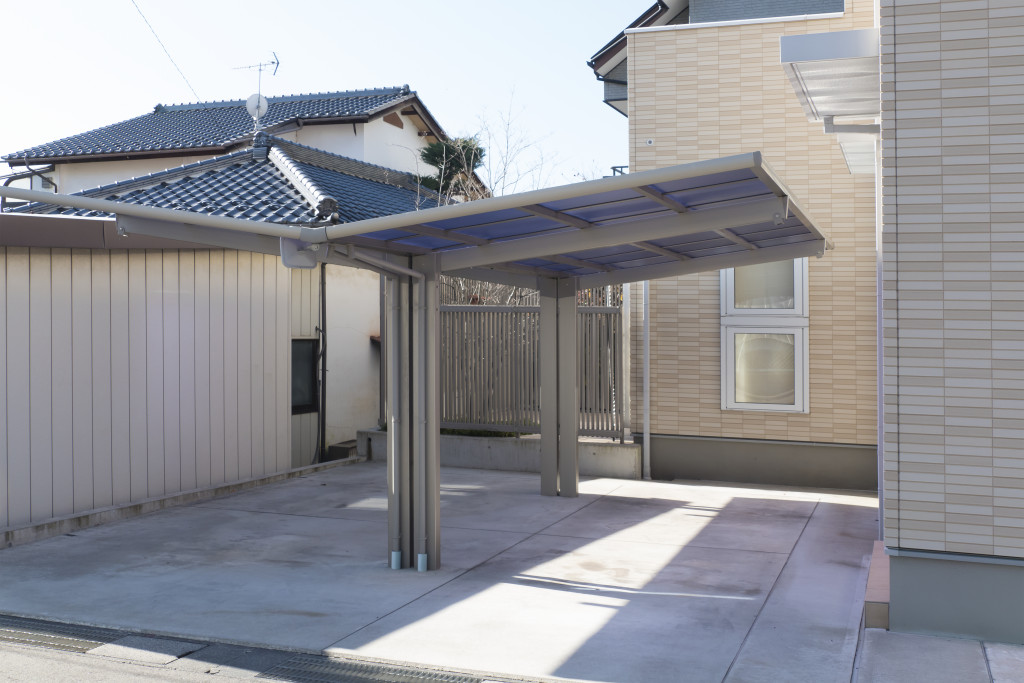 Residential car port image Two roofs